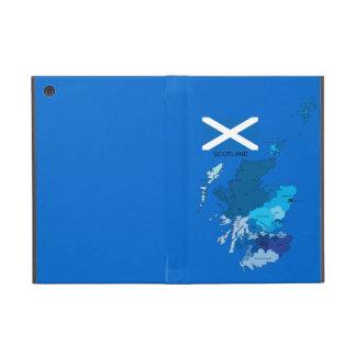 Bandera y mapa de Escocia iPad Mini Funda