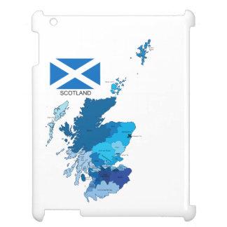 Bandera y mapa de Escocia
