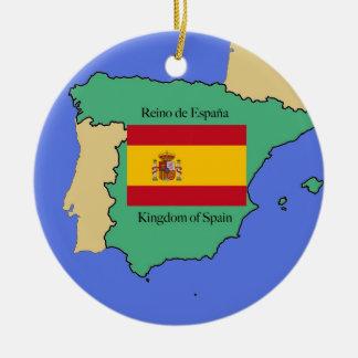 Bandera y mapa de España Ornamentos Para Reyes Magos