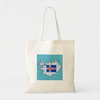Bandera y mapa de Islandia Bolsa
