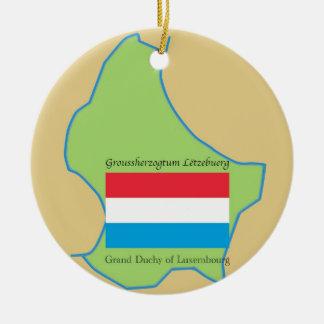 Bandera y mapa de Luxemburgo Ornamentos De Reyes