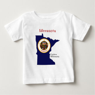 Bandera y mapa de Minnesota T-shirt