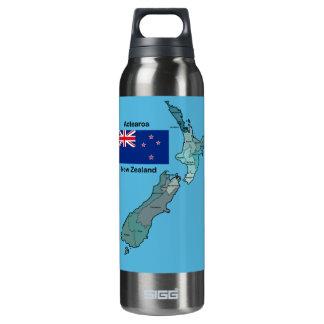 Bandera y mapa de Nueva Zelanda