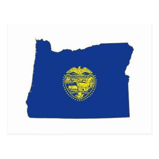 Bandera y mapa del estado de Oregon Postal