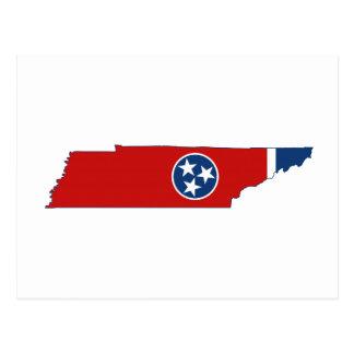 Bandera y mapa del estado de Tennessee Postal