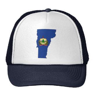 Bandera y mapa del estado de Vermont Gorra