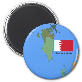 Bandera y mapa del Reino de Bahrein Iman