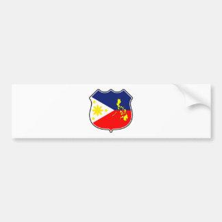Bandera y mapa pegatina para auto