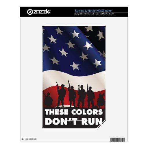 Bandera y militares de los E.E.U.U. - estos colore Calcomanías Para NOOK Color