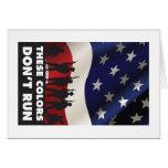 Bandera y militares de los E.E.U.U. - estos colore Tarjeta De Felicitación