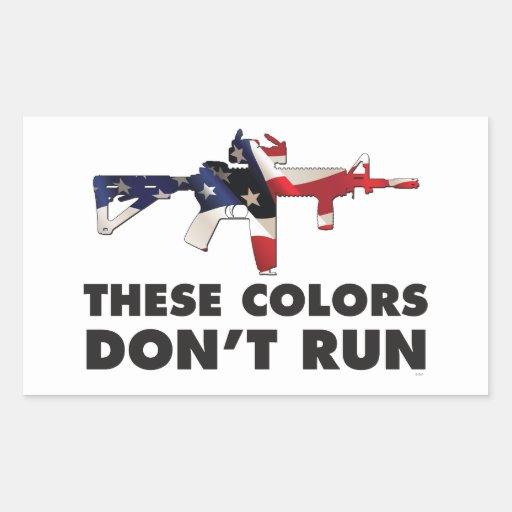 Bandera y militares de los E.E.U.U. - estos Pegatina Rectangular