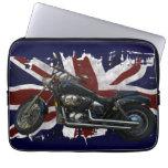 Bandera y motocicleta BRITÁNICAS patrióticas de un Funda Portátil