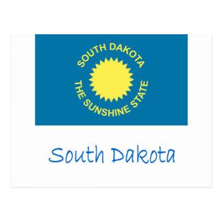 Bandera y nombre de Dakota del Sur Postal