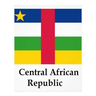 Bandera y nombre de la República Centroafricana Membrete Personalizado