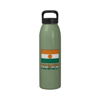Bandera y nombre de Niger Botella De Agua