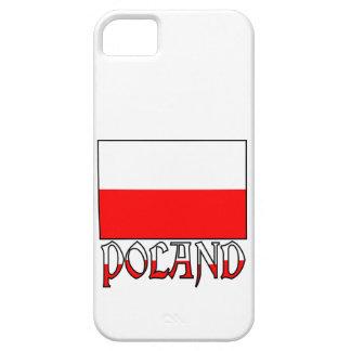 Bandera y nombre de Polonia iPhone 5 Protector