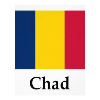 Bandera y nombre de República eo Tchad Membrete Personalizado