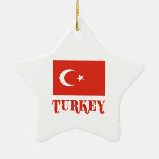 Bandera y nombre de Turquía Ornamentos De Reyes