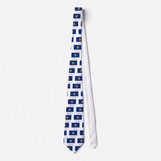 Bandera y nombre de Vermont Corbata Personalizada