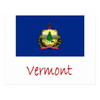 Bandera y nombre de Vermont Postales