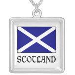Bandera y palabra de Escocia Colgante
