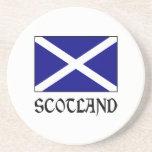 Bandera y palabra de Escocia Posavasos Manualidades