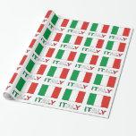 Bandera y palabra de Italia