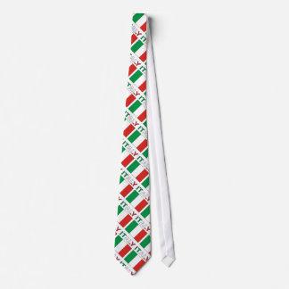 Bandera y palabra de Italia tejadas Corbatas