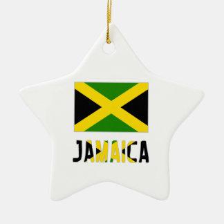 Bandera y palabra de Jamaica Adornos
