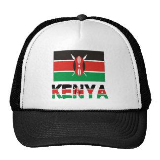 Bandera y palabra de Kenia Gorro De Camionero