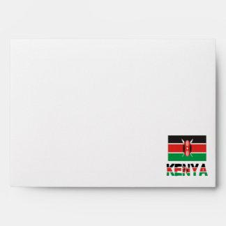 Bandera y palabra de Kenia Sobres