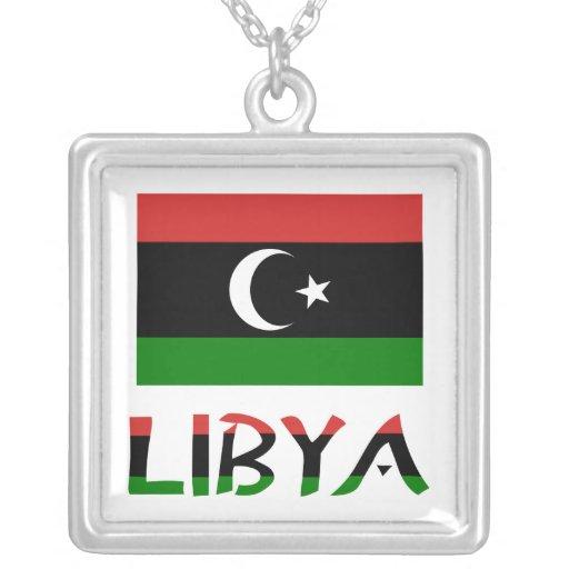 Bandera y palabra de Libia Colgantes