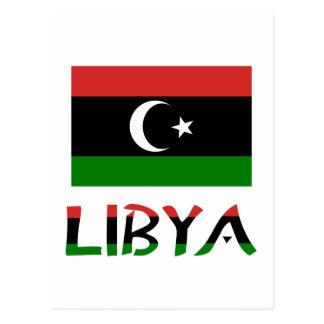 Bandera y palabra de Libia Postal