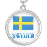Bandera y palabra de Suecia Joyeria