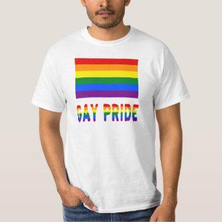 Bandera y palabras del orgullo gay playera
