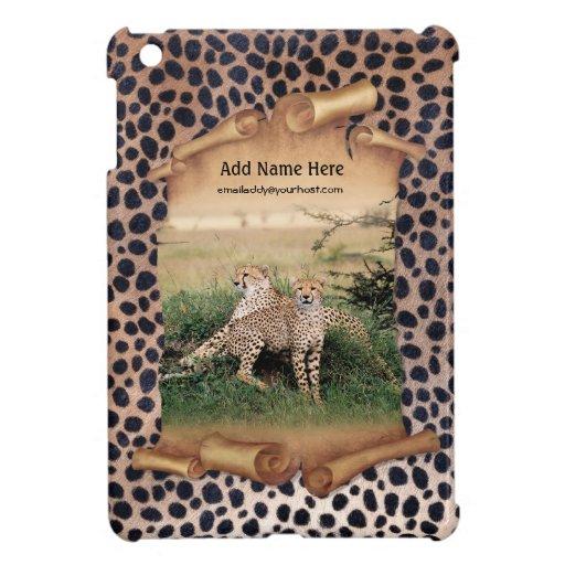 Bandera y piel - personalizar del guepardo iPad mini protector