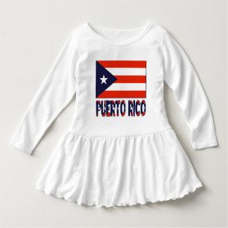 Bandera y Puerto Rico puertorriqueños Vestido