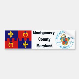 Bandera y sello Bumpersticker del MD del condado d Pegatina Para Auto