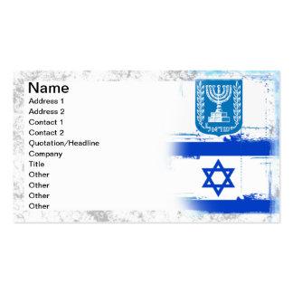 Bandera y sello de Israel Tarjetas De Visita