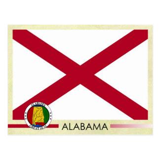 Bandera y sello del estado de Alabama Postal