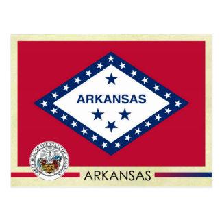 Bandera y sello del estado de Arkansas Tarjetas Postales