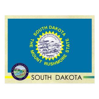 Bandera y sello del estado de Dakota del Sur Tarjetas Postales