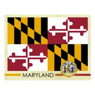Bandera y sello del estado de Maryland Postales