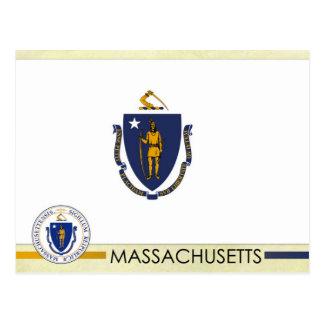 Bandera y sello del estado de Massachusetts Postales