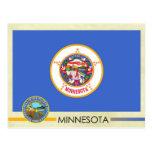 Bandera y sello del estado de Minnesota Postales