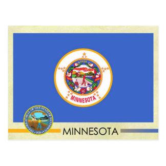 Bandera y sello del estado de Minnesota Tarjetas Postales