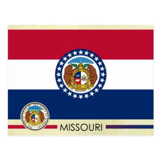 Bandera y sello del estado de Missouri Tarjeta Postal