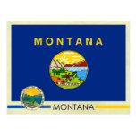 Bandera y sello del estado de Montana Tarjeta Postal