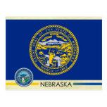 Bandera y sello del estado de Nebraska Postal