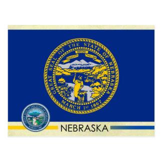 Bandera y sello del estado de Nebraska Tarjetas Postales